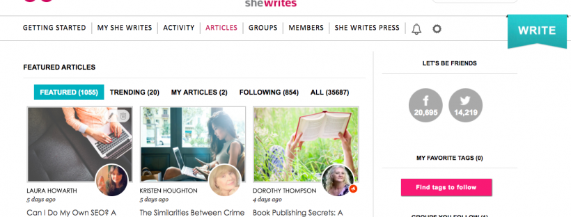 Laura Howarth Featured On SheWrites