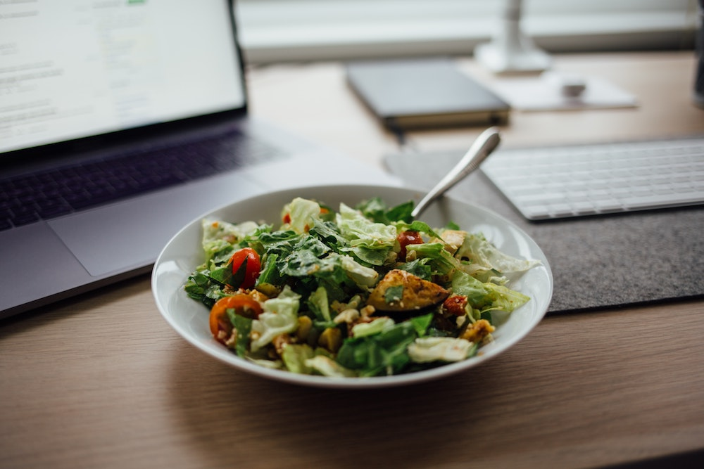 healthy food working from home